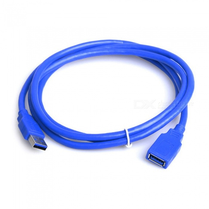 Dayspirit USB3.0 Male to Female Extension Cable, USB 3.0 M/F Connector Adapter - 100cmAV Adapters And Converters<br>ColorBlue-100cmModelN/AMaterialOFCQuantity1 DX.PCM.Model.AttributeModel.UnitConnectorUSBPacking List1 x Data cable<br>