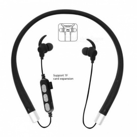 Cwxuan Bluetooth V4.2 Stereo Earphone, Neckband Headphone with Microphone, TF Slot for Cell Phones - Black