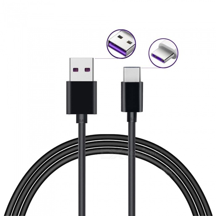 1m 5A Quick Charge USB 3.1 Type-C Charging Data Cable for Huawei Mate 9 / Pro / P9 / P9 plus /P10 / P10 plus / OnePlus 3T / 5TCables<br>ColorBlackLength100cmModelN/AMaterialTPEQuantity1 DX.PCM.Model.AttributeModel.UnitCompatible ModelsHuawei Mate 9 / Pro / P9 / P9 plus /P10 / P10 plus / OnePlus 3T / 5TConnectorUSB Type-CPacking List1 x Cable<br>