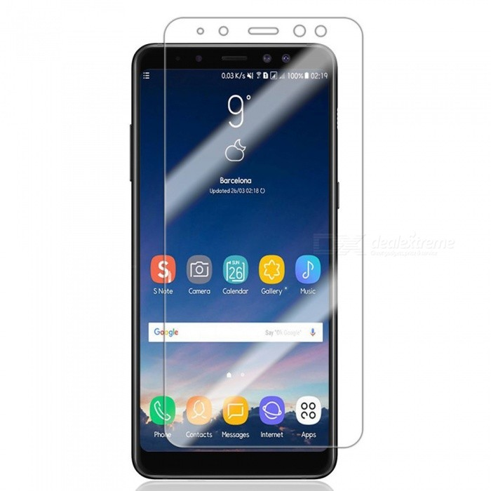9H Hardness 0.3mm Tempered Glass Screen Protector Film for Samsung Galaxy A8 (2018)Screen Protectors<br>ColorTransparentModelN/AMaterialTempered GlassQuantity1 setCompatible ModelsSamsung Galaxy A8(2018)Features2.5D,Scratch-proof,Tempered glassPacking List1 x Tempered glass film1 x Wet wipe1 x Dry wipe1 x Dust sticker<br>