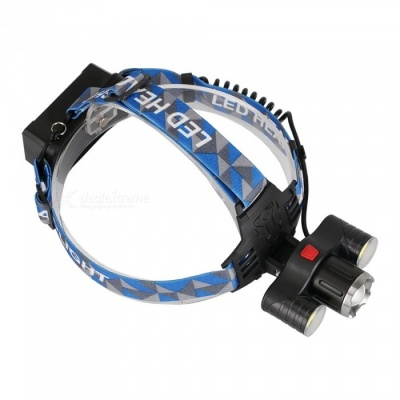 T6 Super Bright LED 4-Mode Rotating Zoom Headlamp, Fishing Lamp
