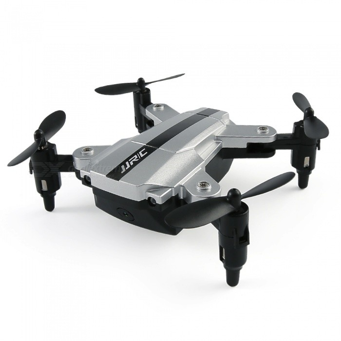 JJRC H54W E-FLY Wi-Fi FPV Foldable RC Quadcopter BNF Drone with 480P Camera, Altitude Hold Mode - SilverR/C Airplanes&amp;Quadcopters<br>ColorSilverModelH54WMaterialABSQuantity1 DX.PCM.Model.AttributeModel.UnitShade Of ColorSilverGyroscopeYesChannels Quanlity4 DX.PCM.Model.AttributeModel.UnitFunctionUp,Down,Left,Right,Forward,Backward,Stop,Hovering,Sideward flightRemote TypeRadio ControlRemote control frequency2.4GHzRemote Control RangeAbout 50 DX.PCM.Model.AttributeModel.UnitSuitable Age 13-24 months,Grown upsCameraYesCamera PixelOthers,480PLamp YesBattery TypeLi-ion batteryBattery Capacity3.7V 200 DX.PCM.Model.AttributeModel.UnitCharging TimeAbout 50 DX.PCM.Model.AttributeModel.UnitWorking TimeAbout 5 DX.PCM.Model.AttributeModel.UnitRemote Controller Battery TypeOthers,NORemote Controller Battery NumberNORemote Control TypewiredModelMode 2 (Left Throttle Hand)CertificationCEPacking List1 x JJRC H54W E-FLY RC Quadcopter1 x 3.7V 200mAh Li-Po Battery1 x USB Charger4 x Propeller1 x Manual<br>