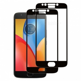 Naxtop Tempered Glass Full Screen Protector for Moto E4 Plus - Black