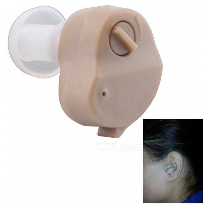 Portable Adjustable Tone Hearing Aid, Small Invisible In-Ear Type Best Sound Amplifier - BrownHearing Aids<br>ColorBrownMaterialABSQuantity1 setShade Of ColorBrownEar CouplingIn-EarSensitivity30dBTHDNoise40dBMaximum Loudness110+/-5dBCable Length0 cmFrequency Response300~4000HzBattery included or notYesPower SupplyOthers,AG13Battery Number1Working Voltage   1.5 VWorking Current4 mAPacking List1 x Hearing aid4 x Earplugs2 x Batteries1 x Brush1 x Earplug cleaning rod 1 x Plastic gift box1 x English instruction1 x Gift<br>