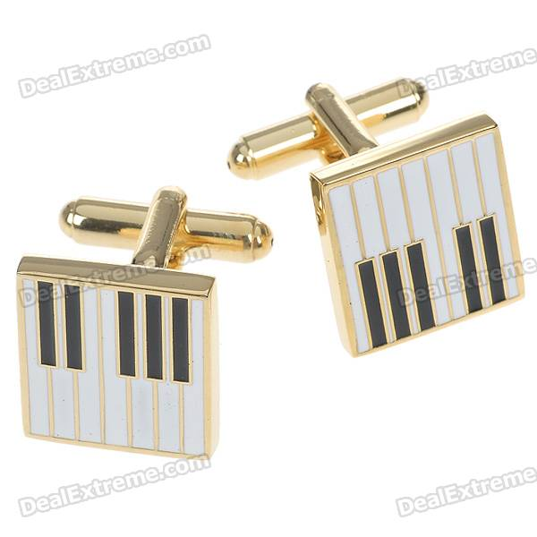 Фото Charming Plating White Steel Cufflinks for Men - Piano Keys (Pair) pair of charming titanium steel geometric earrings for women