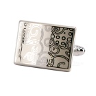 Charming Plating White Steel Cufflinks for Men - Carved Designs (Pair)
