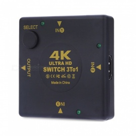 dayspirit 4K * 2K 3D mini switch HDMI a 3 porte, 3 in 1 hub esterno per DVD HDTV xbox PS3 PS4