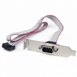 Serial Port Line DB9M Expansion Line / COM Line / RS232 Expansion Line for PC - Gray