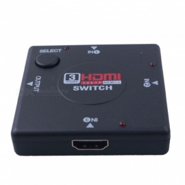 dayspirit HD HDMI V1.4 Interruptor 3-IN 1-OUT + 1m cable HDMI-negro