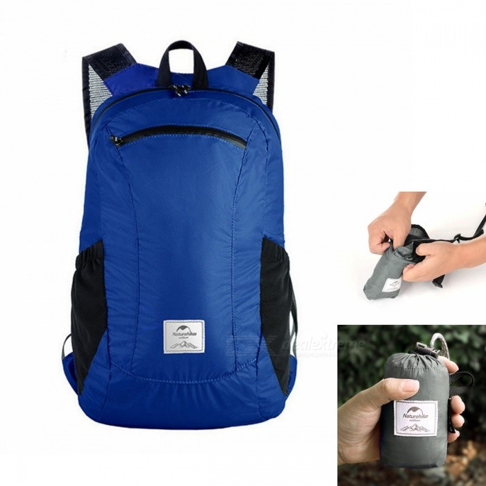 Naturehike Folding Double-Shoulder Bag Backpack - Blue (18L)Form  ColorblueBest UseFamily &amp; car camping,Backpacking,Camping,Mountaineering,Travel,Bike commuting &amp; touringModelNH17A012-BQuantity1 setMaterial30D nylon coated silicon fabricTypeShoulder Fold bagSizeOthers,23*17*42cmCapacityOthers,18LCapacity Range0L~20LRaincover includedNoGenderUnisexBest UseMountaineeringPacking List1 x Backpack<br>