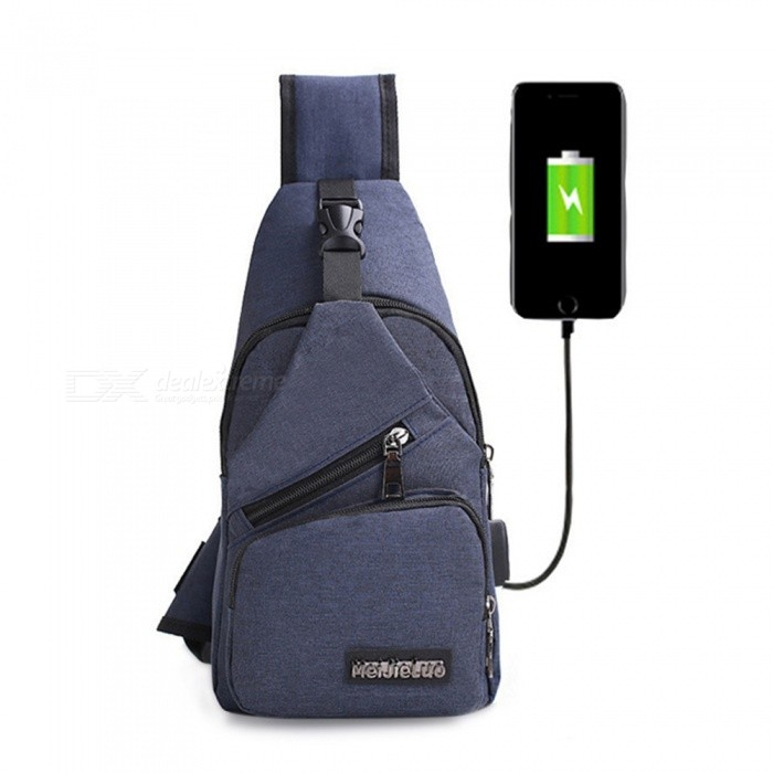 CTSmart 0817 Outdoor Travel 4L Waterproof USB Interface Leisure Shoulder Messenger Bag - Dark BlueColorDark blueBest UseClimbing,Backpacking,Mountaineering,TravelModel0817Quantity1 pieceMaterialPolyesterCapacity Range0L~20LRaincover includedNoPacking List1 x Bag<br>