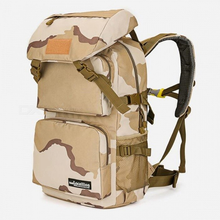 LOCAL LION 555 Multi-Function Outdoor Latest 36-55L Waterproof Hiking Backpack - Khaki