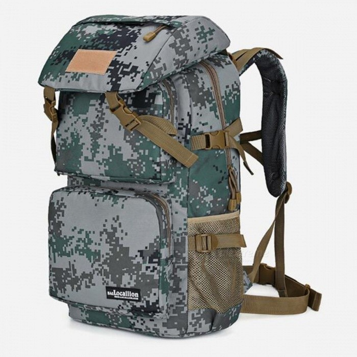 LOCAL LION 555 Multi-Function Outdoor Latest 36-55L Waterproof Hiking Backpack - Green