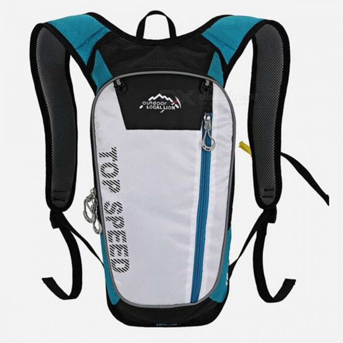 LOCAL LION 558 Multi-Function 20L Bike Mountaineering Hiking Sports Water Bag Backpack - BlueColorBlueBest UseClimbing,Rock Climbing,Family &amp; car camping,Backpacking,Camping,Mountaineering,TravelModel558Quantity1 DX.PCM.Model.AttributeModel.UnitMaterialPolyesterSizeOthersCapacity20LCapacity Range0L~20LRaincover includedNoPacking List1 x Water bag backpack<br>