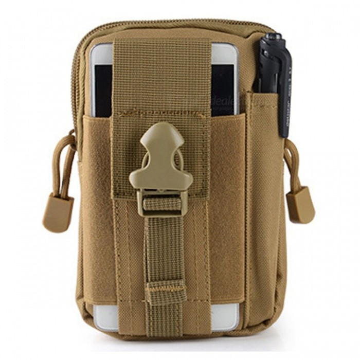 ZHAOYAO Outdoor Sports Molle Tactical Pocket Wallet, 5.5 6.0 Waterproof Running Waist Bag - KhakiColorKhakiBest UseOthers,Outdoor sportsQuantity1 DX.PCM.Model.AttributeModel.UnitMaterialOxford cloth 600D encryptionSizeOthersCapacityOthersPacking List1 x Pocket<br>