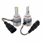 JRLED C6 9006 36W Cold White Ultra Bright Headlight w/ Slient Fan Heat Dissipation (2 PCS / DC12-24V)