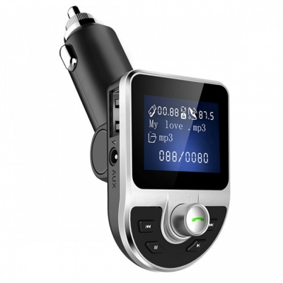 BT39 Portable Bluetooth Car Charger, MP3 Player, FM Transmitter