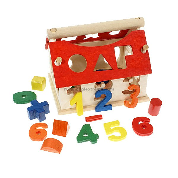 Wooden Numeric House - Spatial Training for Children