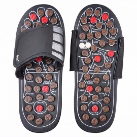 Feet Massage Reflexology Reflex Slipper Sandal, Rest Pebble Stone Acupuncture Foot Healthy Massager Shoes 40 41/Brown