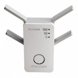 mini draagbare 1200M dual-band draadloze router - wit (US plug)