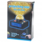 LED Digital Alarm Clock Thermometer with 7-Color Projecting Stars/Nature Sounds (4*AAA/3*AAA)