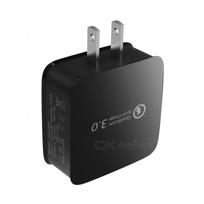 5V 3A QC 3.0 Quick Charge USB AC Charger Wall Charger - Black (US Plug)AC Chargers<br>ColorBlackPower AdapterUS PlugModelN/AMaterialABSQuantity1 DX.PCM.Model.AttributeModel.UnitInput Voltage100-240 DX.PCM.Model.AttributeModel.UnitOutput Current3 DX.PCM.Model.AttributeModel.UnitOutput Voltage5 DX.PCM.Model.AttributeModel.UnitQuick ChargeYesPacking List1 x AC Charger<br>