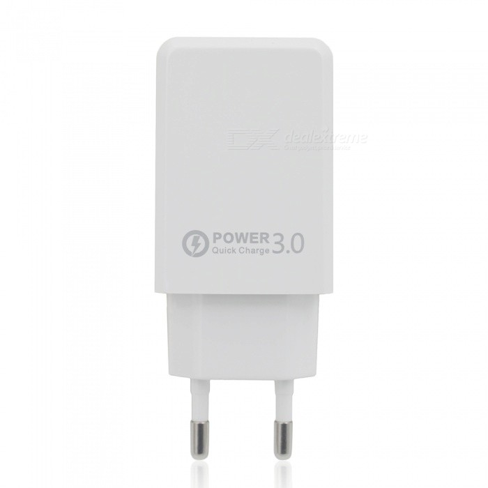 QC 3.0 5V 3A Quick Charge USB AC Charger USB Wall Charger - White (EU Plug)AC Chargers<br>ColorWhitePower AdapterEU PlugModelN/AMaterialPCQuantity1 DX.PCM.Model.AttributeModel.UnitInput Voltage110-240 DX.PCM.Model.AttributeModel.UnitOutput Current3 DX.PCM.Model.AttributeModel.UnitOutput Voltage5 DX.PCM.Model.AttributeModel.UnitQuick ChargeYesPacking List1 x QC3.0 USB Charger<br>