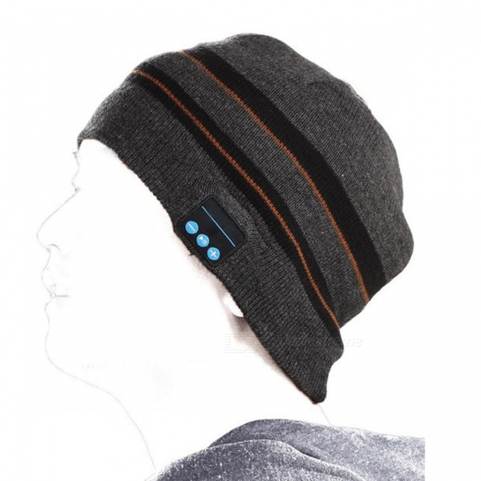 Portable Bluetooth V3.0 Woven Acrylic Fiber Stripe Warm Music Hat - Grey + BrownOther Bluetooth Devices<br>Form  ColorGreyModelN/AMaterial95% Acrylic fiber + cotton + polyesterQuantity1 pieceShade Of ColorGrayBluetooth VersionBluetooth V3.0Operating Range10MStandby Time60 hoursBattery TypeLi-ion batteryBuilt-in Battery Capacity 100 mAhPacking List1 x Bluetooth Music Hat1 x Micro USB charge cable(70cm)1 x User manual<br>