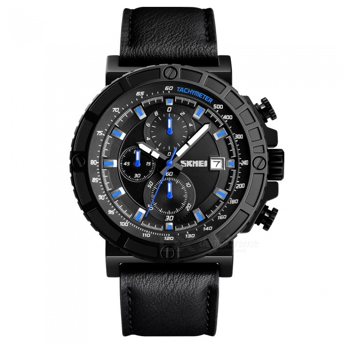 SKMEI 1350 30M Waterproof Mens Leather Band Quartz Watch - BlueQuartz Watches<br>ColorBlueModel1350Quantity1 pieceShade Of ColorBlueCasing MaterialAlloyWristband MaterialLeatherSuitable forAdultsGenderMenStyleWrist WatchTypeCasual watchesDisplayAnalogMovementQuartzDisplay Format12 hour formatWater ResistantWater Resistant 3 ATM or 30 m. Suitable for everyday use. Splash/rain resistant. Not suitable for showering, bathing, swimming, snorkelling, water related work and fishing.Dial Diameter5.4 cmDial Thickness1.2 cmWristband Length28 cmBand Width2.3 cmBattery1 x SR626SWPacking List1 x SKMEI 1350 Watch<br>