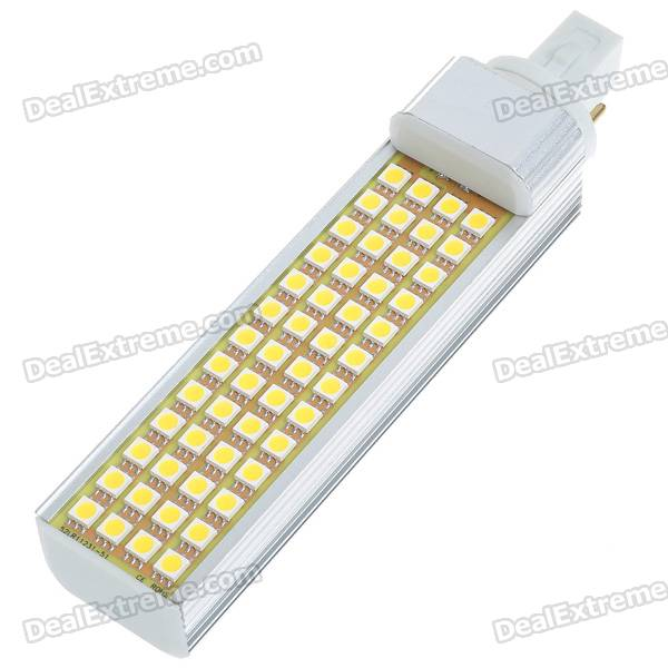 G24 13W 52-5050 SMD LED Warm White Light Lamp Bulb (85~265V)