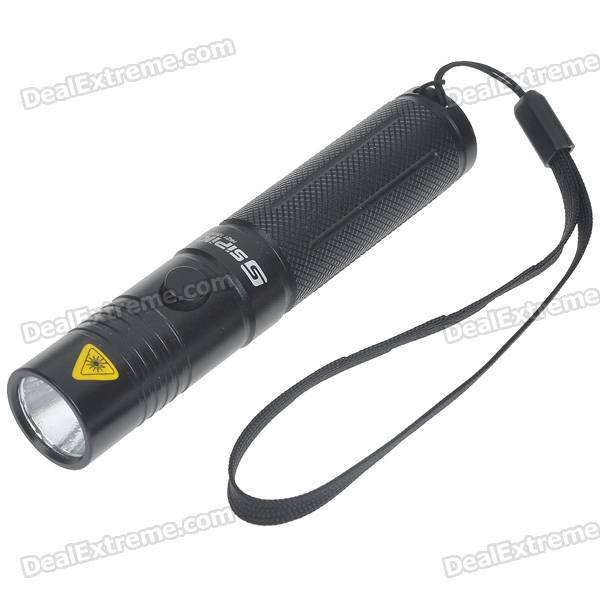 SIPIK HK21 18650 3-Mode 160-Lumen White LED Flashlight w/ Cree Q3-WC / Strap (1*18650)