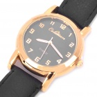 Vintage Magnetic Health Quartz Wrist Watch with PU Leather Band for Men (1*SR626)