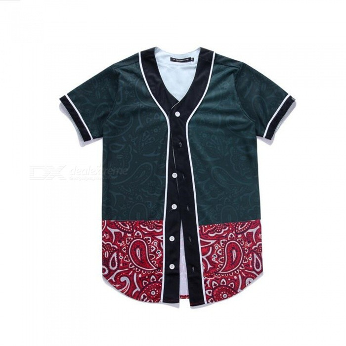 CTSmart 3D Flower Pattern Creative Slim Short-Sleeved Baseball Uniform T-Shirt for Men - Black (M)Hoodies &amp; Sweatshirts<br>ColorBlackSizeMQuantity1 DX.PCM.Model.AttributeModel.UnitShade Of ColorBlackMaterial60% polyester + 40% cottonStyleFashionShoulder Width41 DX.PCM.Model.AttributeModel.UnitChest Girth94 DX.PCM.Model.AttributeModel.UnitWaist Girth94 DX.PCM.Model.AttributeModel.UnitSleeve Length18 DX.PCM.Model.AttributeModel.UnitTotal Length75 DX.PCM.Model.AttributeModel.UnitSuitable for Height160 DX.PCM.Model.AttributeModel.UnitPacking List1 x Short sleeve T-shirt<br>