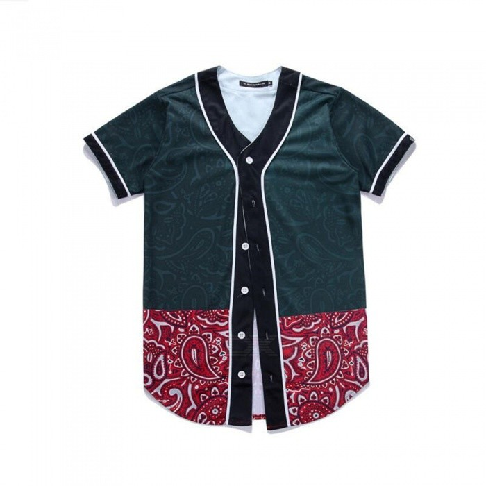 CTSmart 3D Flower Pattern Creative Slim Short-Sleeved Baseball Uniform T-Shirt for Men - Black (L)Hoodies &amp; Sweatshirts<br>ColorBlackSizeLQuantity1 pieceShade Of ColorBlackMaterial60% polyester + 40% cottonStyleFashionShoulder Width42 cmChest Girth98 cmWaist Girth98 cmSleeve Length19 cmTotal Length77 cmSuitable for Height165 cmPacking List1 x Short sleeve T-shirt<br>