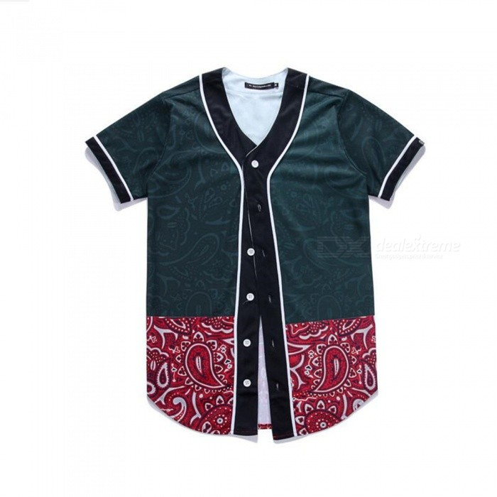 CTSmart 3D Flower Pattern Creative Slim Short-Sleeved Baseball Uniform T-Shirt for Men - Black (2XL)Hoodies &amp; Sweatshirts<br>ColorBlackSize2XLQuantity1 pieceShade Of ColorBlackMaterial60% polyester + 40% cottonStyleFashionShoulder Width44 cmChest Girth106 cmWaist Girth106 cmSleeve Length21 cmTotal Length81 cmSuitable for Height175 cmPacking List1 x Short sleeve T-shirt<br>