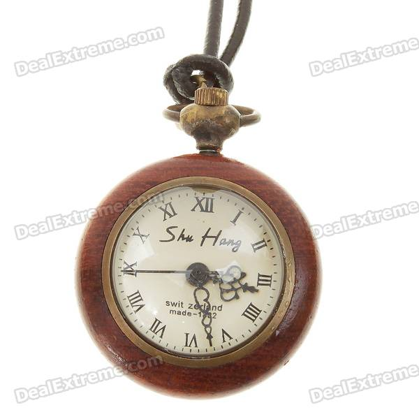 Vintage Crystal Ball Quartz Pocket Watch with Strap (1*SR626SW)