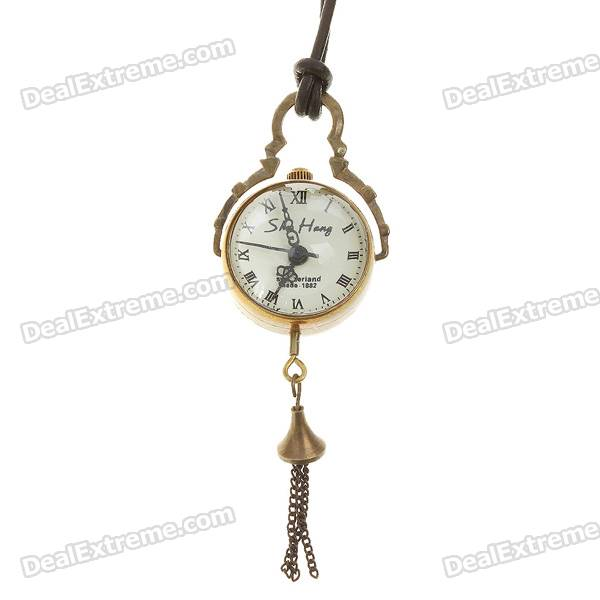 Vintage Glass Ball Manual-Winding Mechanical Pocket Watch