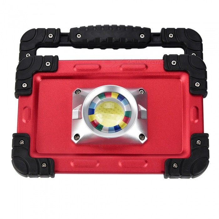 SPO Handheld Super Bright 3-Mode USB Charging Work Light for Camping, Hunting, FishingOutdoor Lantern<br>ColorRed + BlackModelW827Quantity1 DX.PCM.Model.AttributeModel.UnitMaterialAluminum alloy + ABSEmitter BINOthers,COBLED TypeXP-ENumber of Emitters1Color BINWhiteBattery Type18650Battery Number4Battery included or notNoInput VoltageUSB DX.PCM.Model.AttributeModel.UnitNumber of Modes3Runtime5-8 DX.PCM.Model.AttributeModel.UnitTheoretical Lumens750-1000 DX.PCM.Model.AttributeModel.UnitActual Lumens750-1000 DX.PCM.Model.AttributeModel.UnitLantern TypeOthers,COBBest UseFamily &amp; car camping,Camping,FishingPacking List1 x Camping lamp1 x USB cable<br>