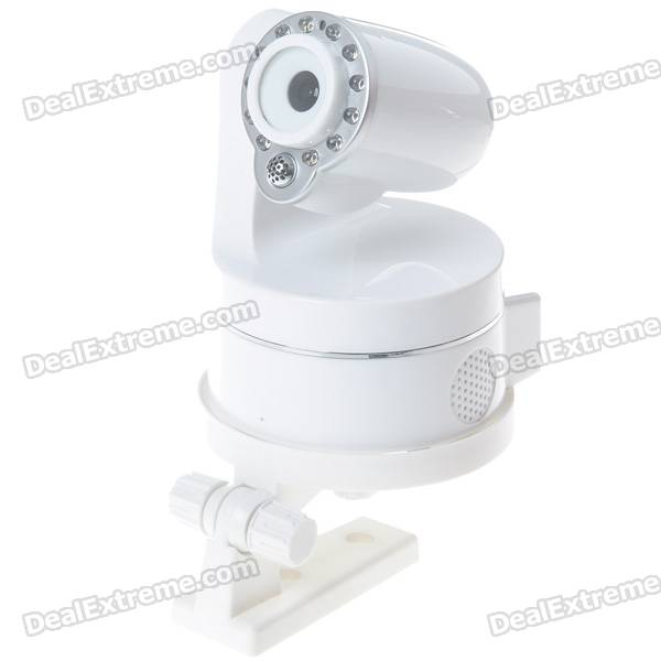 300KP Network Surveillance IP Wireless Camera with 12-LED IR Night Vision/Microphone/Speaker (White)