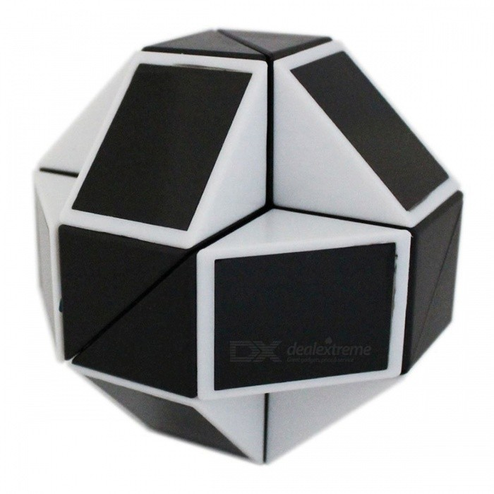 ShengShou Magic Snake Ruler Cube Puzzles 24 Wedges Stickerless Twist Toy - Black + WhiteMagic IQ Cubes<br>ColorBlack + WhiteModelN/AMaterialABS PlasticQuantity1 pieceTypeOthers,Shaped RubikSuitable Age 3-4 years,5-7 years,8-11 years,12-15 years,Grown upsPacking List1 x Magic Cube<br>