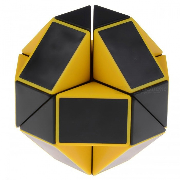 ShengShou Magic Snake Ruler Cube Puzzles 24 Wedges Stickerless Twist Toy - Black + YellowMagic IQ Cubes<br>ColorBlack + YellowModelN/AMaterialABS PlasticQuantity1 DX.PCM.Model.AttributeModel.UnitTypeOthers,Shaped RubikSuitable Age 3-4 years,5-7 years,8-11 years,12-15 years,Grown upsPacking List1 x Magic Cube<br>