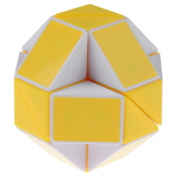 ShengShou Magic Snake Ruler Cube Puzzles 24 Wedges Stickerless Twist Toy - Yellow + WhiteMagic IQ Cubes<br>ColorYellow + WhiteModelN/AMaterialABS PlasticQuantity1 DX.PCM.Model.AttributeModel.UnitTypeOthers,Shaped RubikSuitable Age 3-4 years,5-7 years,8-11 years,12-15 years,Grown upsPacking List1 x Magic Cube<br>