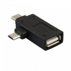 2-in-1 USB 3.1 Type C & Micro USB Male to USB 2.0 Type A Female OTG Adapter