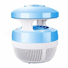Fan Suction LED Light Source Household Mosquito Killer - Sky Blue + White