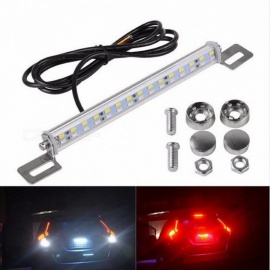 JRLED 5730 SMD 30-LED 6W Red + Cold White Brake Lamp / Reversing Lamp, DC 12V