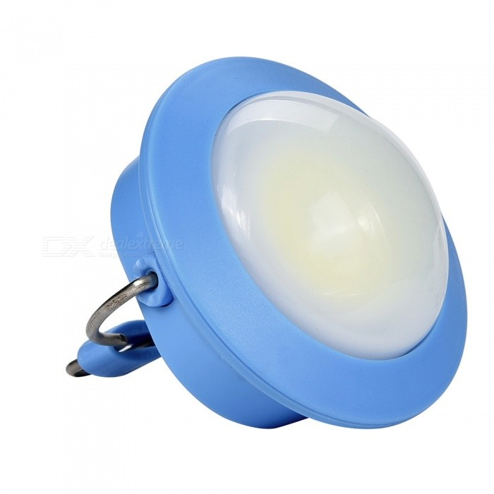 SPO Portable Small Tail Magetic Tent Lamp, Hanging Emergency Light for Outdoor Camping - BlueLED Keychains<br>ColorBlueModelW1Quantity1 DX.PCM.Model.AttributeModel.UnitMaterialABSShade Of ColorBlueNumber of Emitters1Light ColorWhitePower Supply3*AAAPacking List1 x Small light<br>