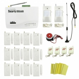 IN-Color Wireless GSM Autodial Home / Garage Security Alarm System with 12Pcs Door / Window Detectors (EU Plug)