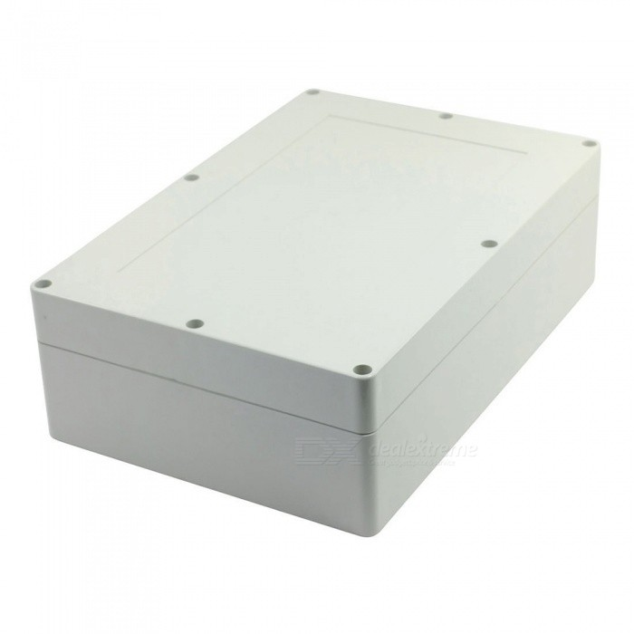 RXDZ 380mmx260mmx105mm Power Cable Connector Case Junction BoxDIY Parts &amp; Components<br>ColorLight greyQuantity1 DX.PCM.Model.AttributeModel.UnitMaterialPlasticEnglish Manual / SpecNoCertificationNOPacking List1 x Junction Box<br>