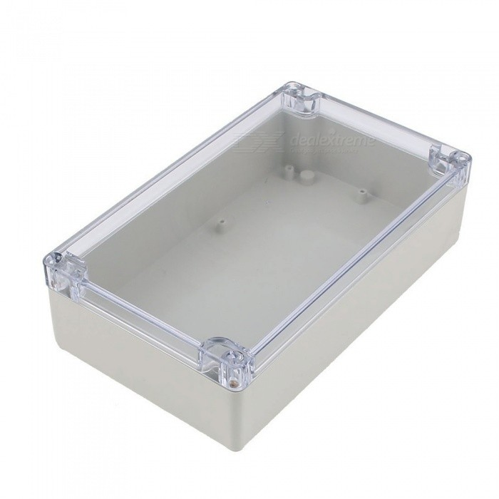 RXDZ Splashproof Project Enclosure Case DIY Wiring Junction Box 200x120x55mmDIY Parts &amp; Components<br>ColorGray, clearQuantity1 DX.PCM.Model.AttributeModel.UnitMaterialSolid PVC plasticEnglish Manual / SpecNoCertificationNOPacking List1 x Junction Box<br>