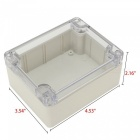 "RXDZ 4.53""x3.54""x2.16"" 115mmx90mmx55mm ABS Junction Box Electric Project Enclosure Clear Cover - 2PCS"